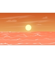 cartoon sea sunset vector image vector image