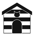 Cat house icon simple style vector image