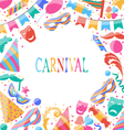 celebration Carnival card with party colorful vector image vector image