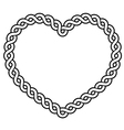 Celtic pattern heart shape - love concept vector image vector image