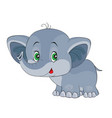 character cute little elephant cartoon vector image vector image