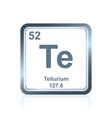 chemical element tellurium from the periodic table vector image vector image