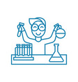 chemical lab linear icon concept chemical lab vector image
