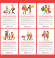 christmas holiday shopping web pages with text vector image vector image