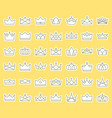 crown outline icon sticker set in flat design vector image vector image