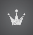 crown sketch logo doodle icon vector image vector image
