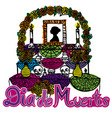 day of the dead altar de muertos 2 vector image vector image