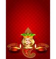 diwali diya and kalash vector image