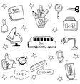 Doodle of element education vector image vector image