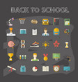 education knowledge icons set vector image