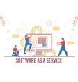 engineer team software service development process vector image vector image