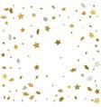 gold flying stars confetti magic christmas frame vector image vector image