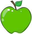 Green Apple Cartoon Character vector image