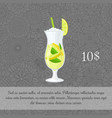 green tea cocktail card template vector image vector image