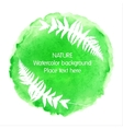 Green watercolour nature icon on white background vector image vector image