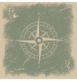 Grunge wind rose vector image vector image