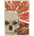 Halloween Party grunge poster vector image vector image
