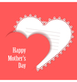Happy Motherss Day Card with lace heart vector image vector image