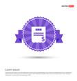 invoice icon - purple ribbon banner vector image