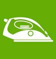 iron icon green vector image vector image