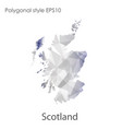 isolated icon scotland map polygonal geometric vector image vector image