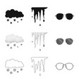 isolated object of weather and climate icon vector image vector image