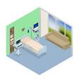 isometric ventilator medical machine designed vector image