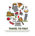 italy sightseeing landmarks and famous travel vector image vector image