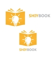 logo combination of a book and light bulb vector image vector image