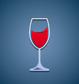 Logo glass of wine vector image vector image