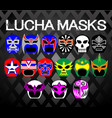 Lucha-masks vector image