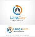 lungs care logo template design emblem design vector image vector image