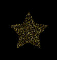 luxury gold star element for advertising poster vector image vector image