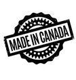 made in canada rubber stamp vector image vector image