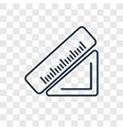 measure concept linear icon isolated on vector image