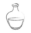 monochrome blurred silhouette of bottle with oil vector image vector image