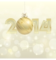 New year 2014 gold banner vector image