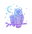 night owls colorful sketch vector image vector image