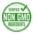 non gmo ingredients sign or stamp vector image vector image