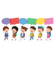 of happy children vector image