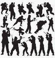 paintball silhouettes vector image