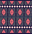 pink coral grey and green tribal geometric vector image