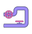 Pipe with valves icon cartoon style vector image