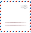 Postal background vector image vector image