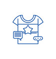 promotional clothing line icon concept vector image vector image
