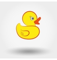 Rubber duck toy vector image vector image