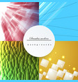 seamless geometric pattern of colored lines vector image