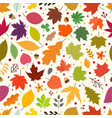 seamless pattern autumn leaves seamless vector image vector image