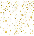 seamless pattern decorative gold stars vector image