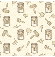 Seamless Pattern with Paintbrushes Roller vector image vector image